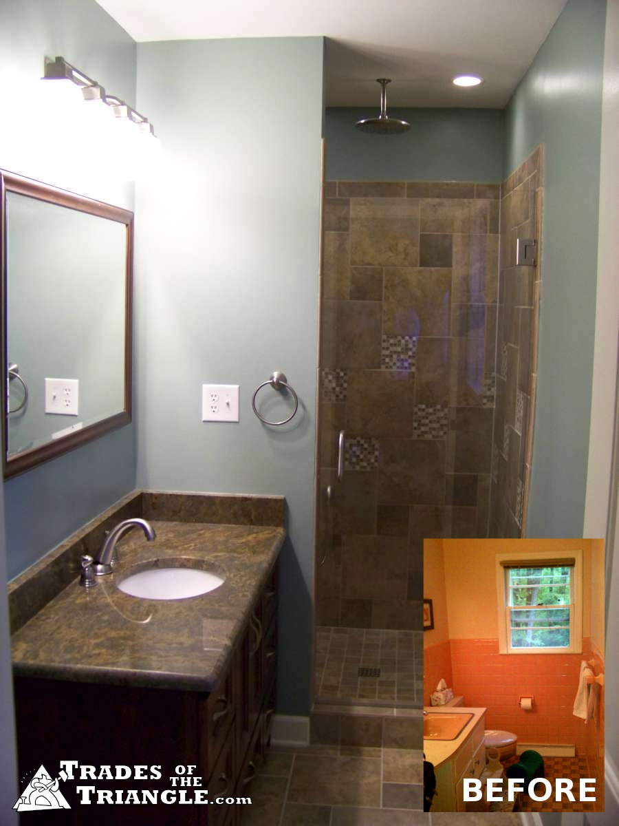 Bathroom remodeling project gallery chapel hill and durham for Bathroom renovation project