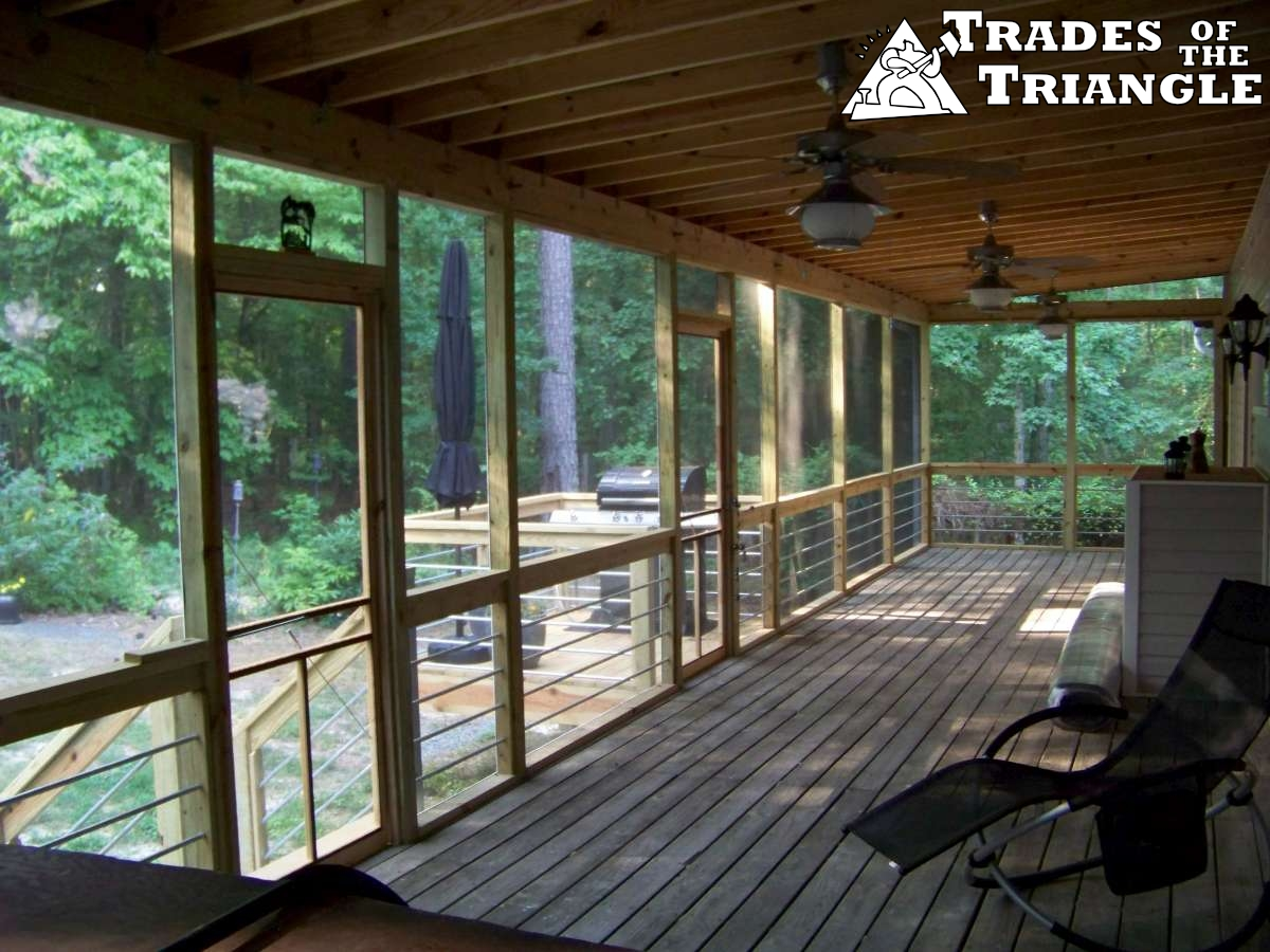 Our deck and screen porch gallery in chapel hill and durham for Gallery porch