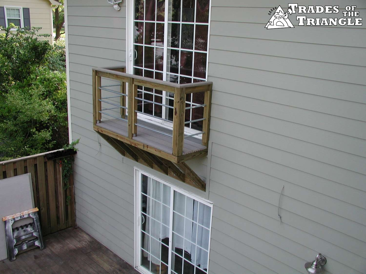 Our deck and screen porch gallery in chapel hill and durham for Balcony decking