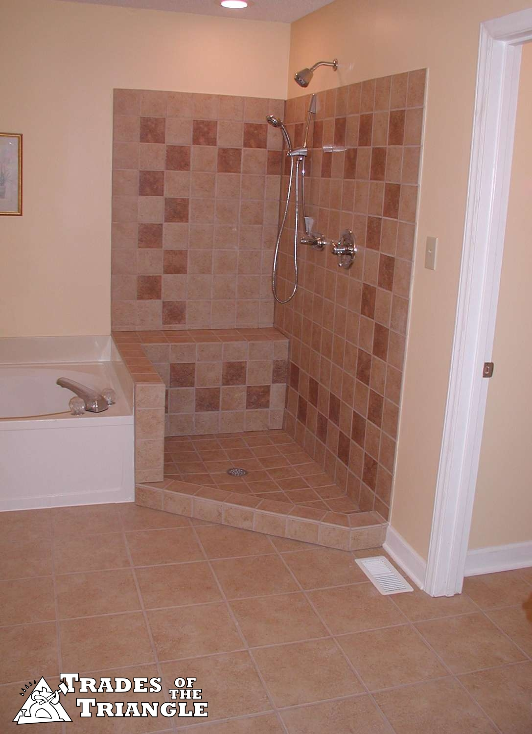 Shower pan repair and tile work in chapel hill and durham Bathroom tile showers